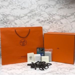 Authentic Hermes XL Birkin 35 Storage Box Gift Set